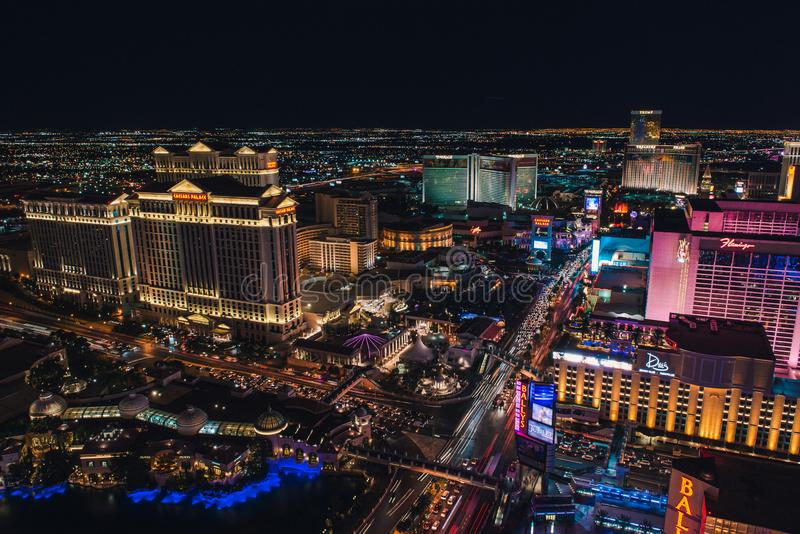 Bande de Las Vegas de Tour Eiffel image libre de droits