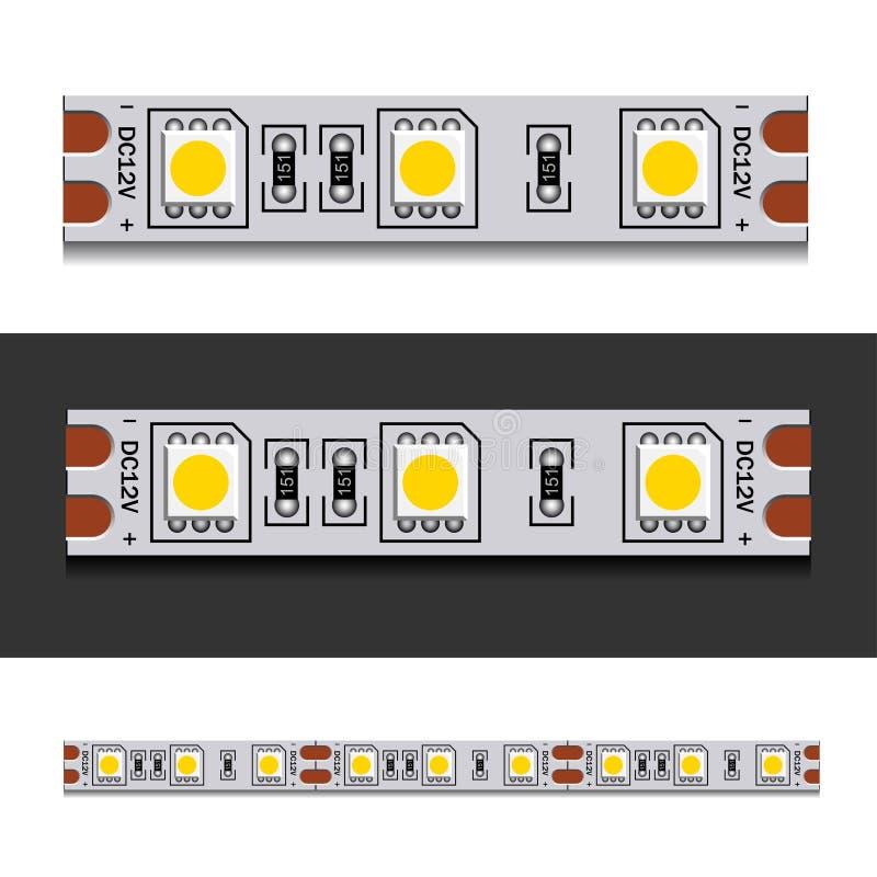 Bande de lumière de LED sans couture illustration libre de droits