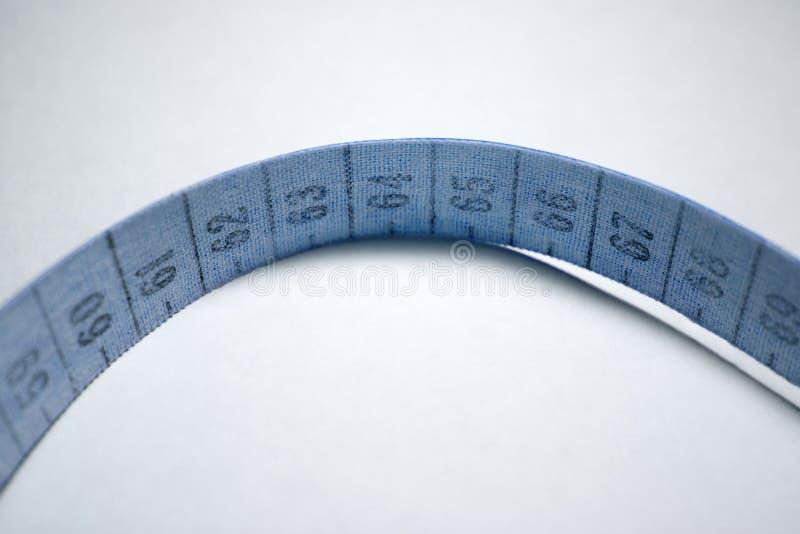 Bande de mesure bleu photos libres de droits