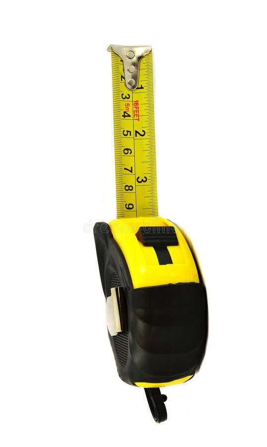 Bande de mesure jaune photo stock