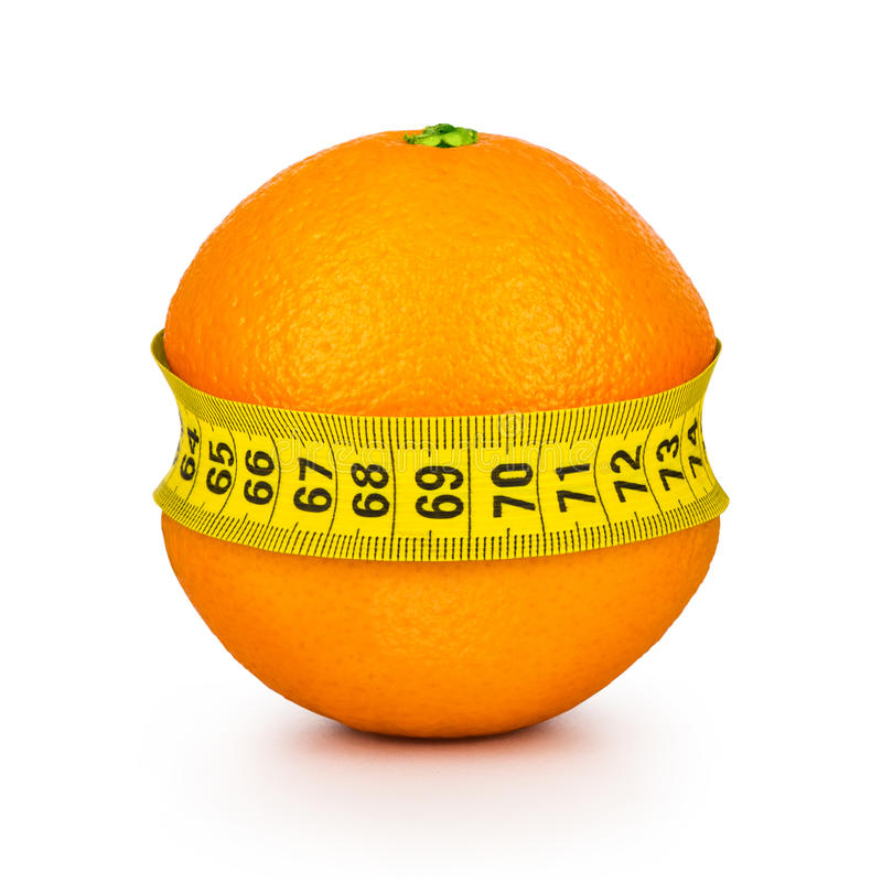Bande de mesure serrée par orange image libre de droits