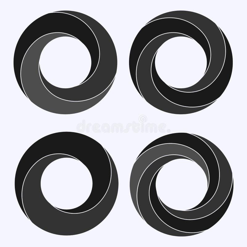 Bande de Mobius Forme circulaire avec le côté inversé illustration libre de droits