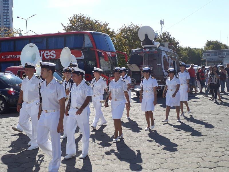 Bande de musique militaire photo stock