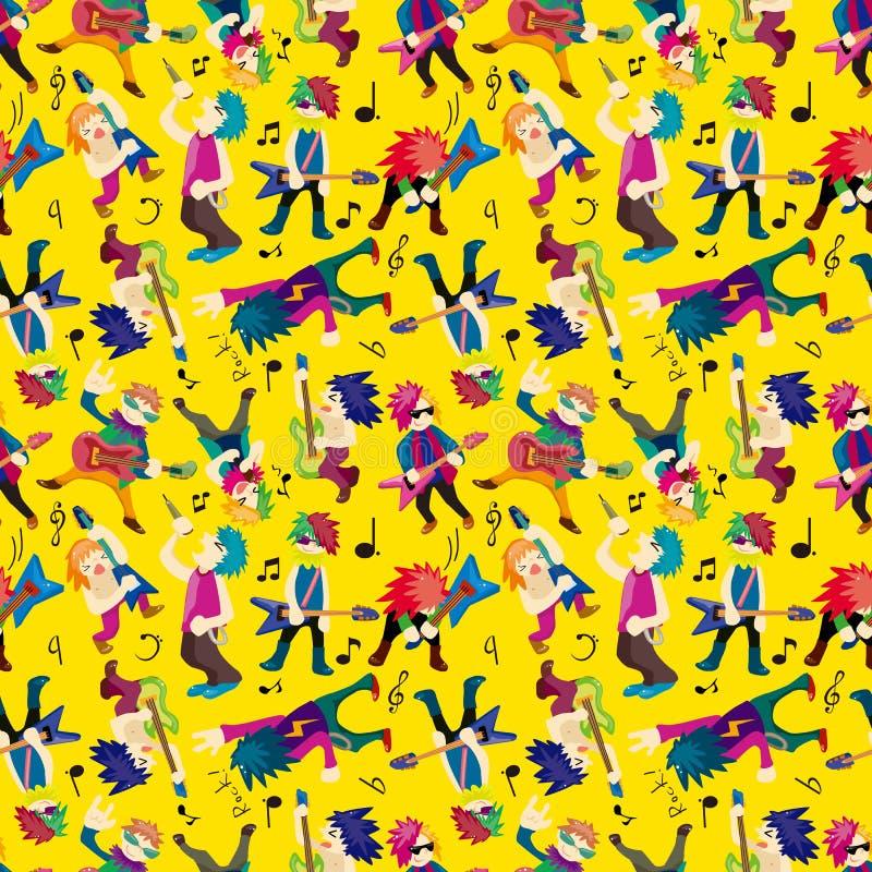 Bande de musique rock de dessin animé illustration de vecteur