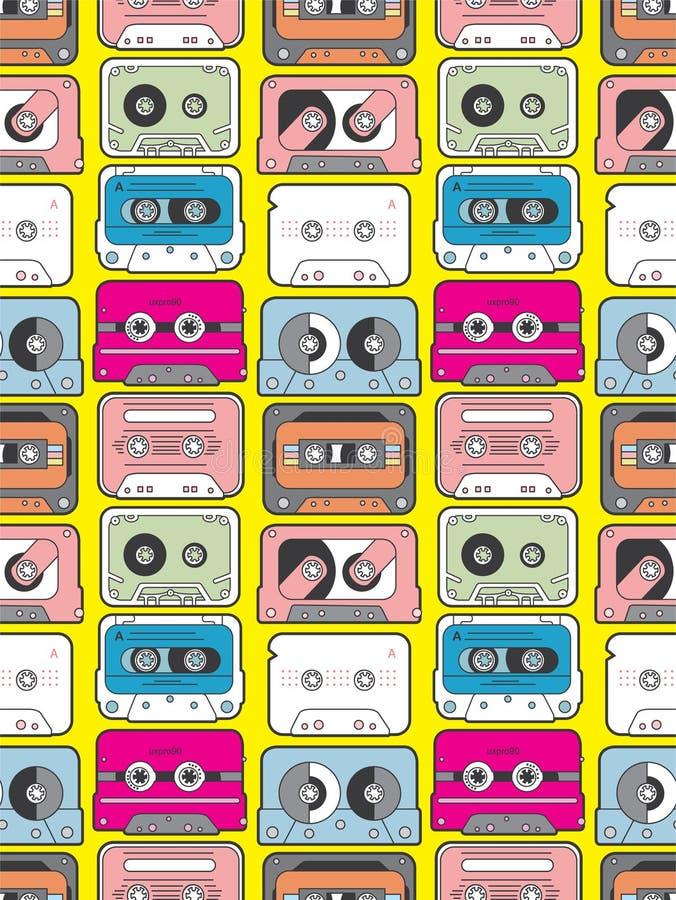 Bande de musique sans joint illustration stock