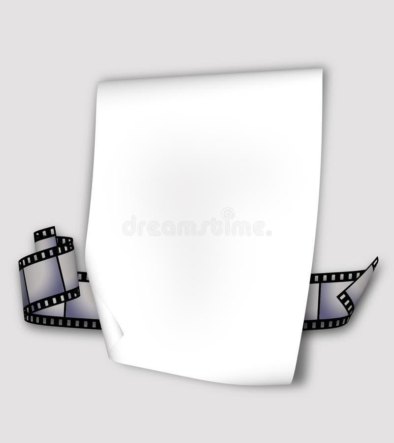 Bande de papier et de film illustration de vecteur