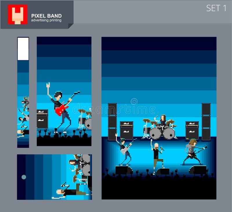 Bande 1 de pixel illustration de vecteur
