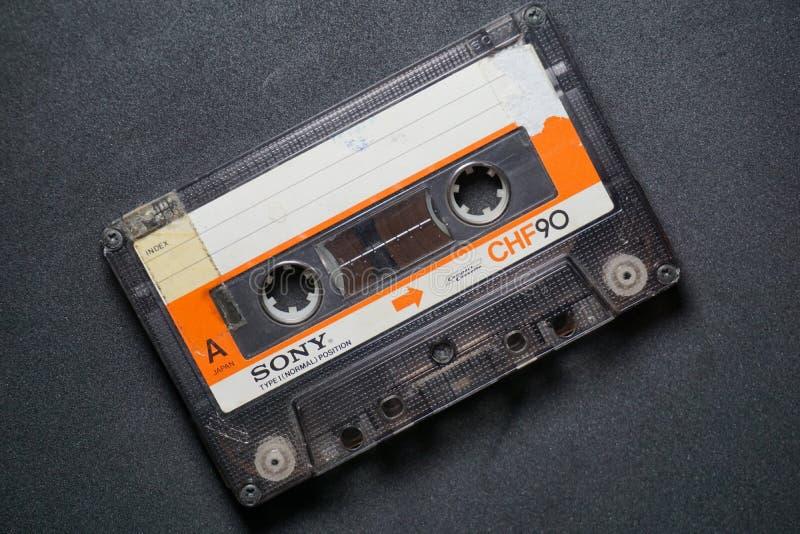 Bande de Sony Cassette photographie stock libre de droits