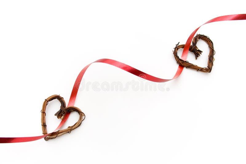 Bande de Valentine avec des coeurs photo stock