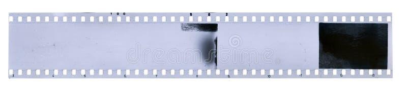 Bande de vieille pellicule à celluloïde avec la poussière et des éraflures photo libre de droits