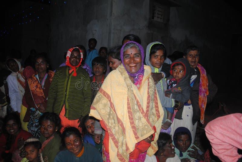Bande de village, Inde image stock