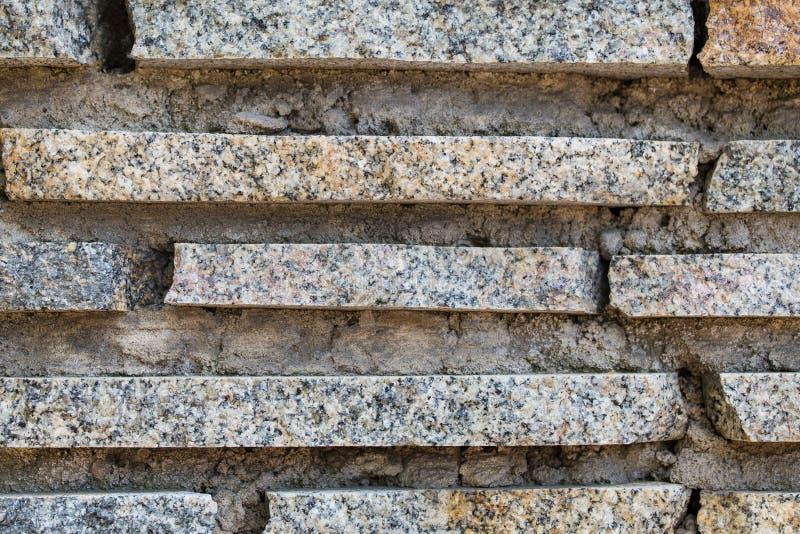 Bande del granito e fondo del muro di cemento, struttura immagine stock libera da diritti