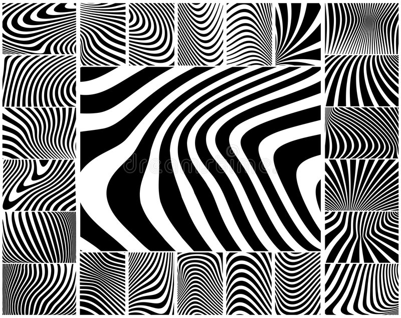 Bande della zebra illustrazione vettoriale