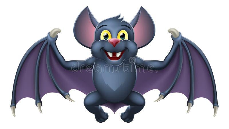 Bande dessinée animale mignonne de chauve-souris de vampire de Halloween illustration stock