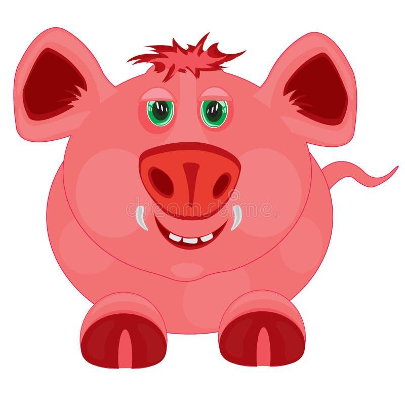 Bande dessinée aux porcs illustration libre de droits