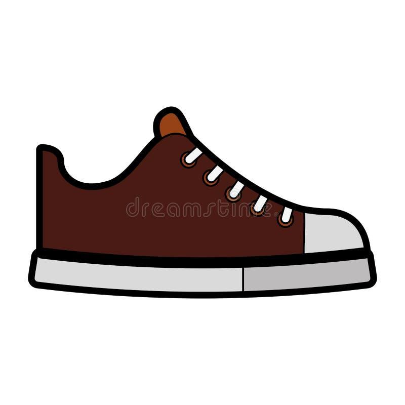 Bande dessinée brune mignonne de chaussure illustration stock