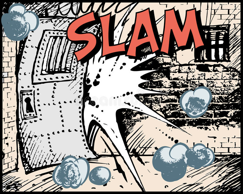 Bande dessinée - claquement illustration de vecteur