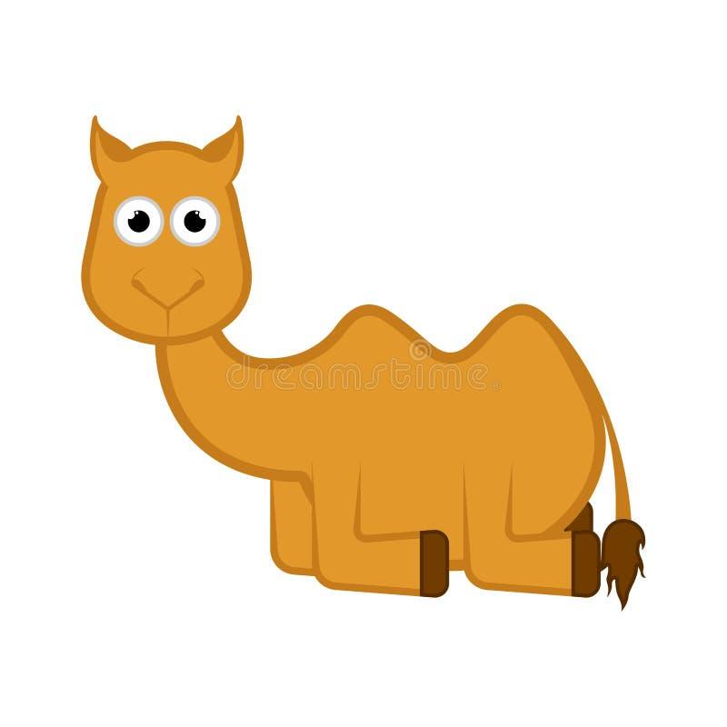 Bande dessinée comique d'isolement de chameau illustration de vecteur
