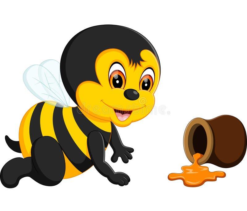 Bande dessinée d'abeille de bébé illustration de vecteur