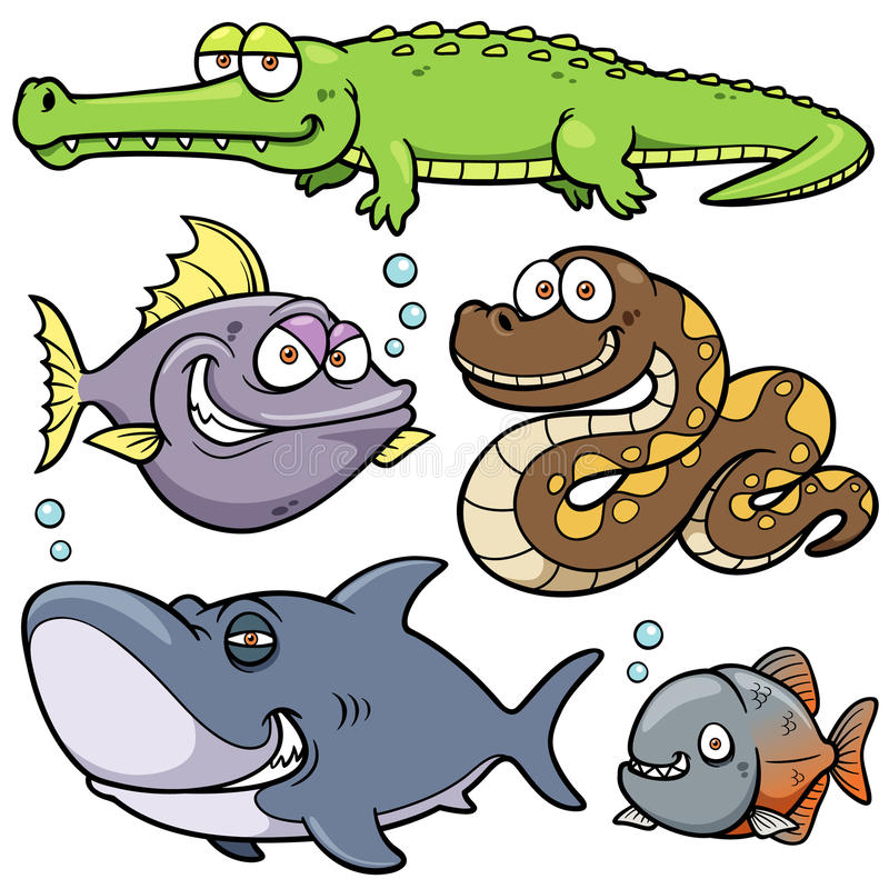 Bande dessinée d'animal sauvage illustration stock