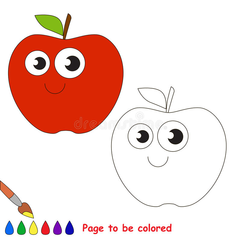 Bande dessinée d'Apple Page à colorer illustration libre de droits
