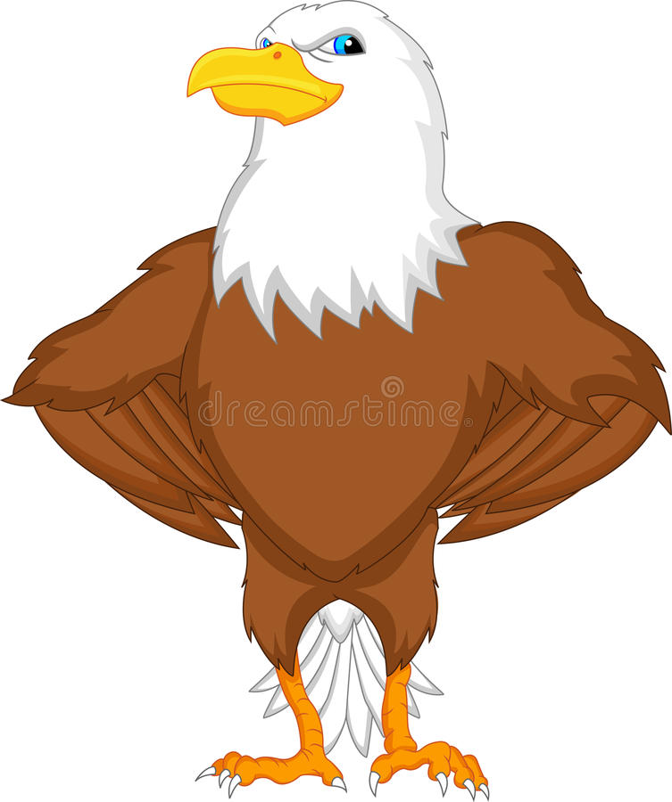 Bande dessinée d'Eagle illustration stock