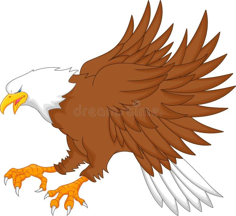 Bande dessinée d'Eagle illustration de vecteur