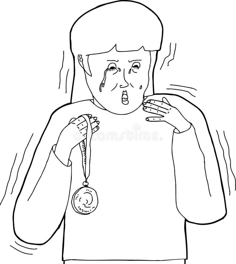 Bande dessinée d'ensemble de perdant endolori illustration libre de droits