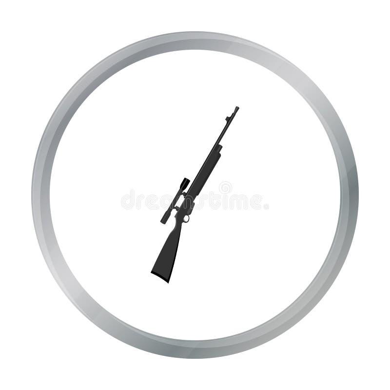 Bande dessinée d'icône d'arme à feu de tireur isolé de fusil Icône simple d'arme des grandes munitions, bras réglés illustration stock