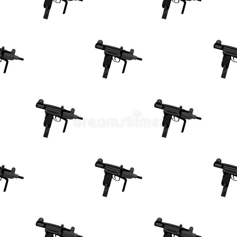 Bande dessinée d'icône d'arme d'UZI Icône simple d'arme des grandes munitions, bras réglés illustration libre de droits
