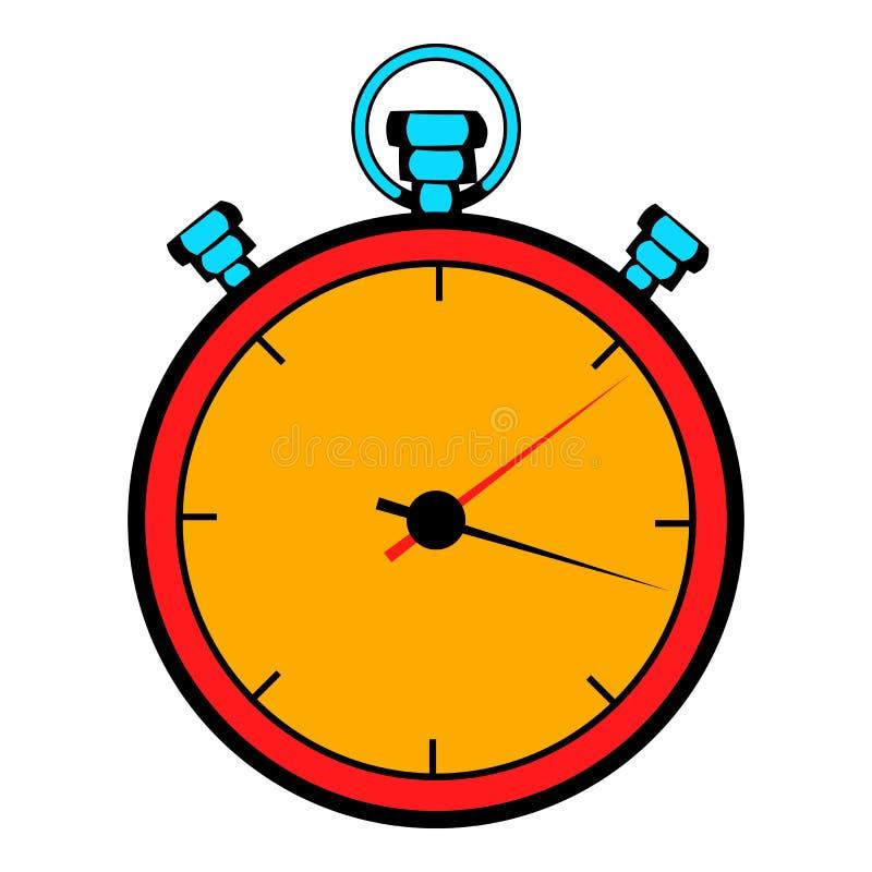 Bande dessinée d'icône de chronomètre illustration libre de droits