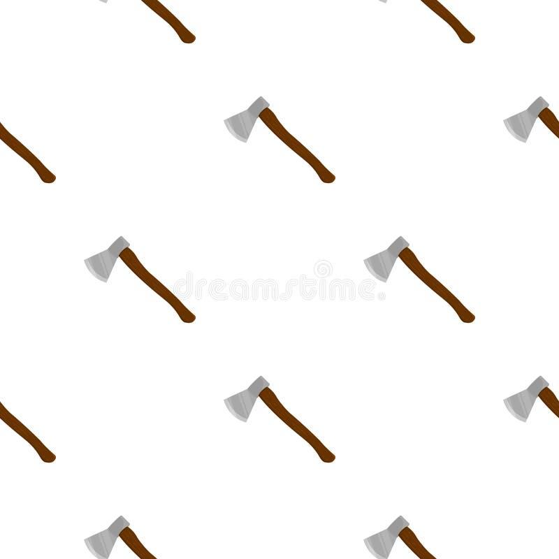 Bande dessinée d'icône de hache Icône simple d'arme des grandes munitions, bras réglés illustration de vecteur