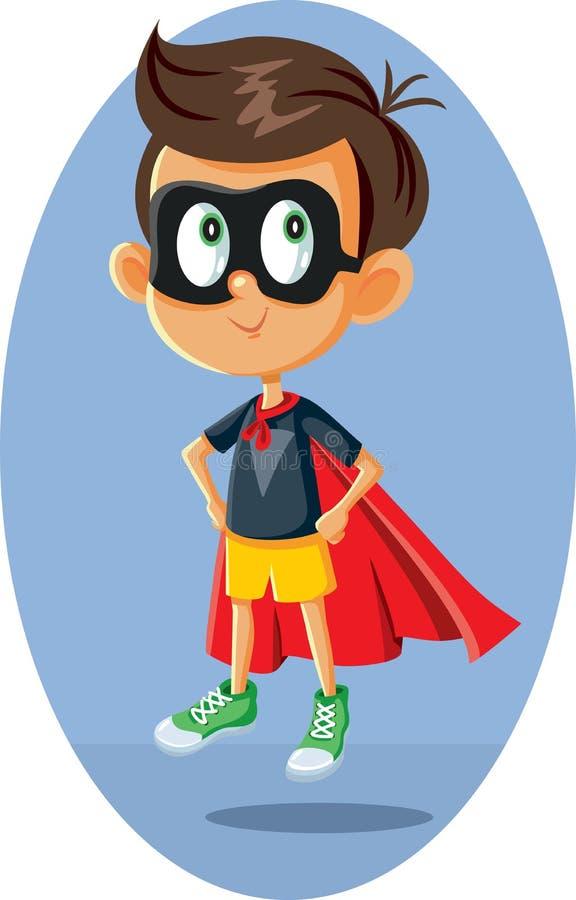 Bande dessinée d'illustration de vecteur de garçon de super héros illustration de vecteur