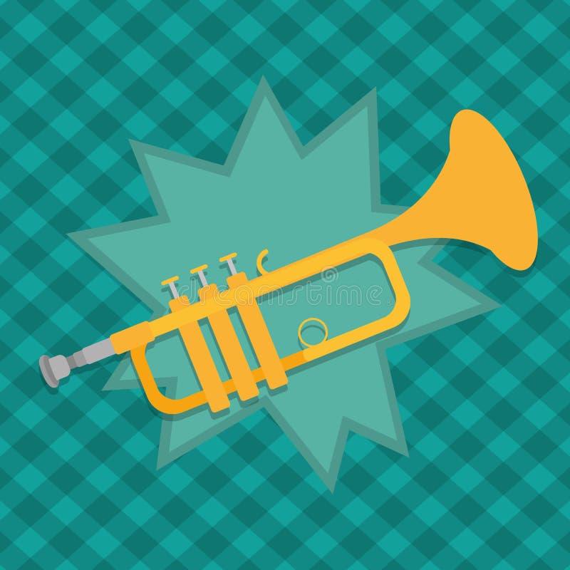 Bande dessinée d'instrument de trompette illustration stock
