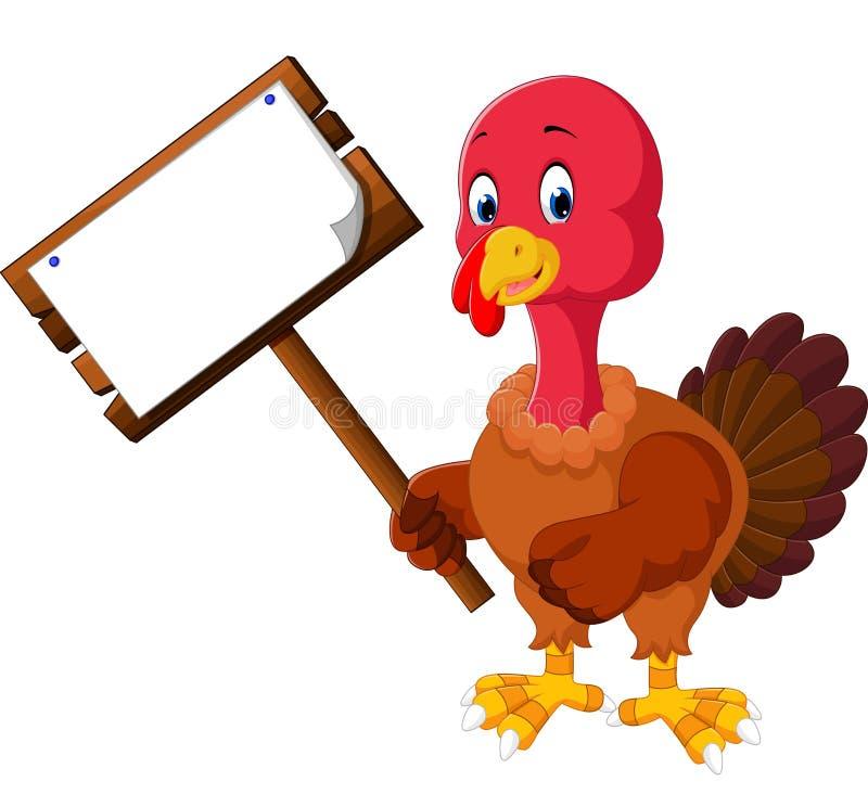 Bande dessinée d'oiseau de la Turquie illustration libre de droits