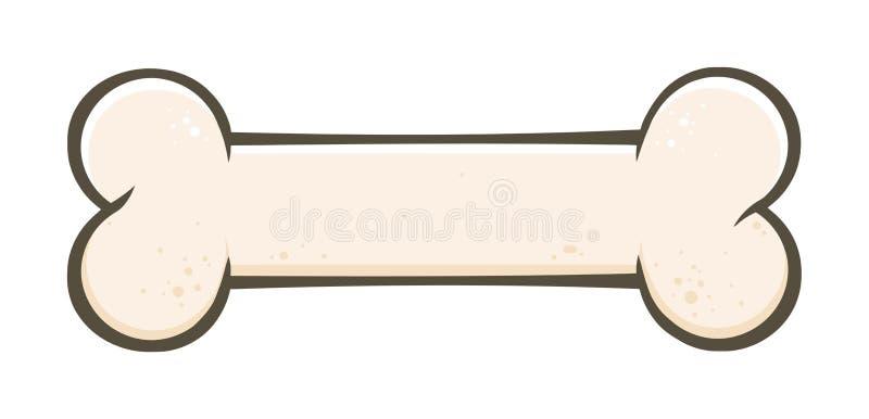 Bande dessinée d'os de chien dessinant la conception simple illustration de vecteur