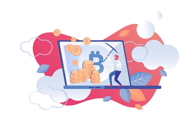 Bande dessinée d'outils d'analyse technique de Cryptocurrency illustration de vecteur