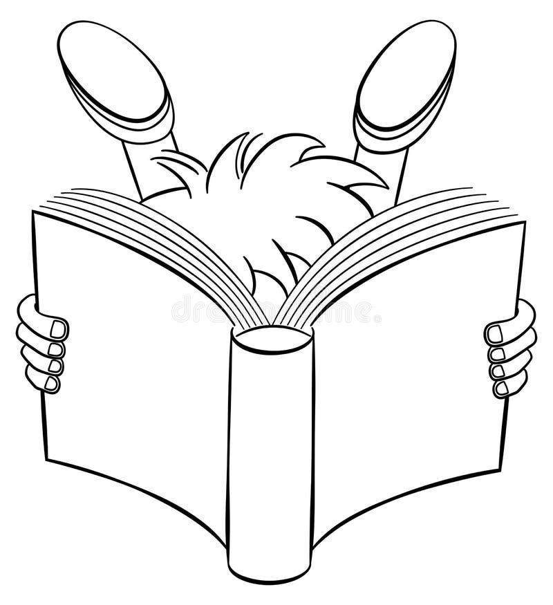 Bande dessinée d'un enfant lu ravi illustration libre de droits