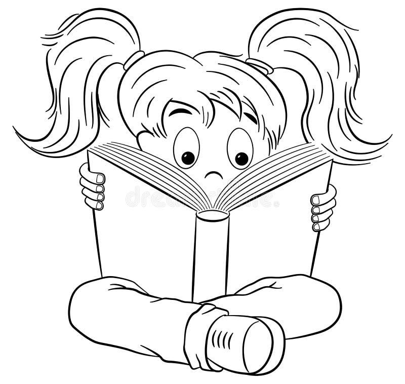 Bande dessinée d'un enfant lu ravi illustration de vecteur