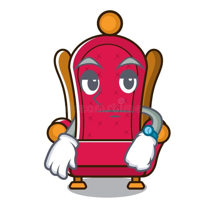 Bande dessinée de attente de mascotte de trône de roi illustration libre de droits