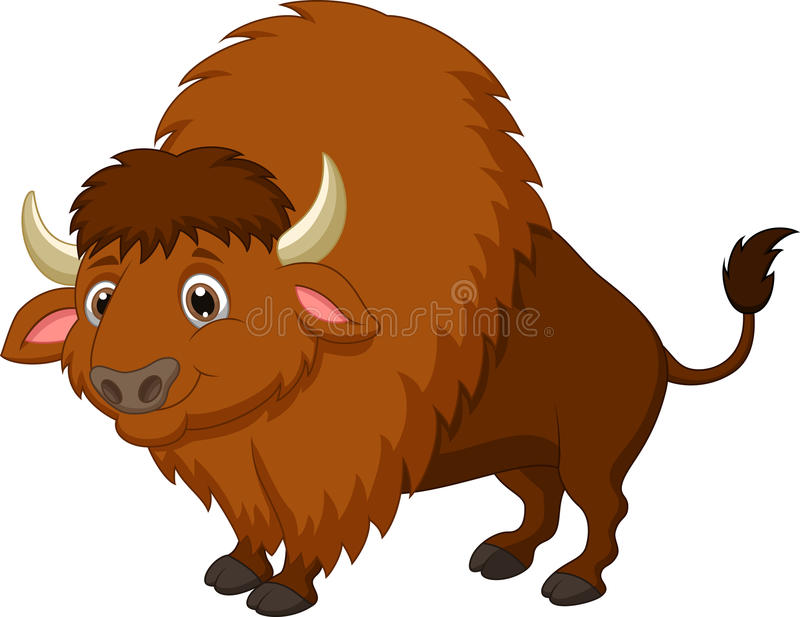 Bande dessinée de bison illustration stock