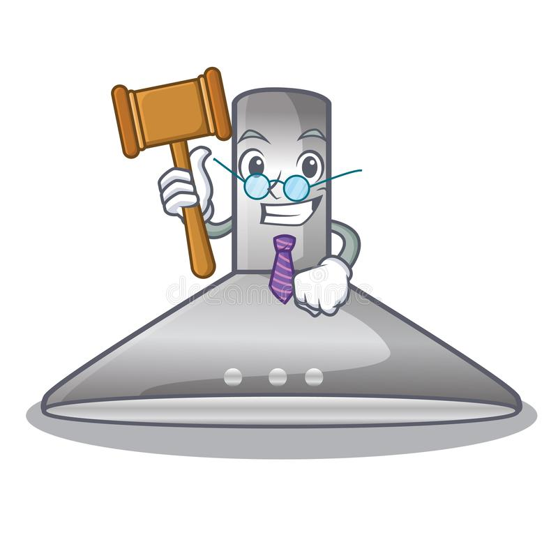 Bande dessinée de capot de cuisine de juge pour la cuisson illustration de vecteur