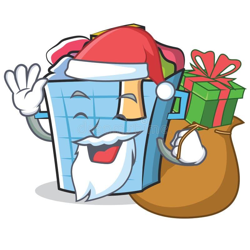 Bande dessinée de caractère de panier de blanchisserie de Santa illustration libre de droits