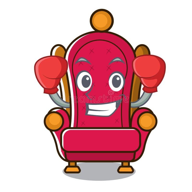 Bande dessinée de caractère de trône de roi de boxe illustration libre de droits