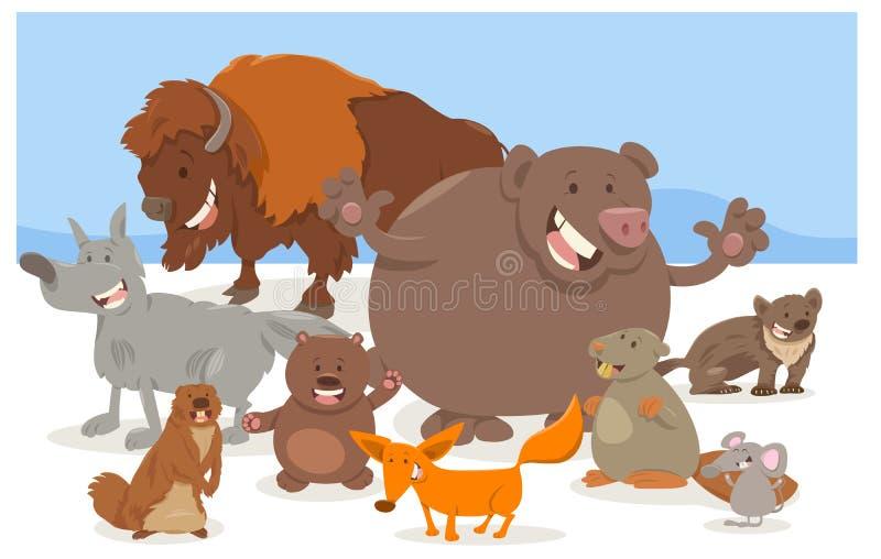 Bande dessinée de caractères d'animal sauvage illustration libre de droits