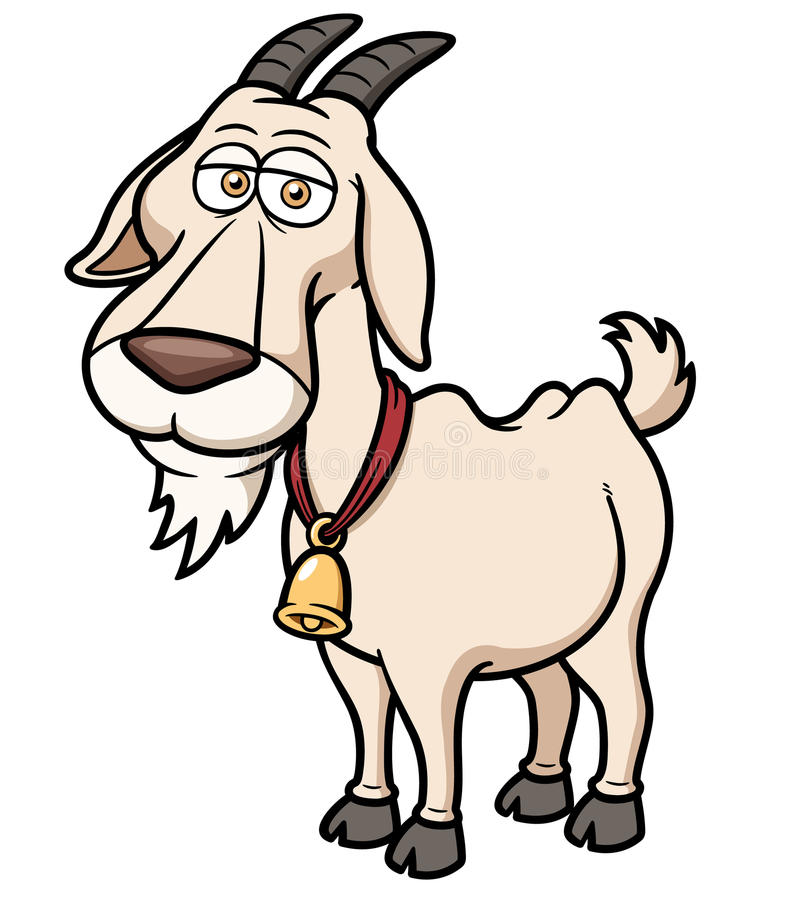 Bande dessinée de chèvre illustration libre de droits