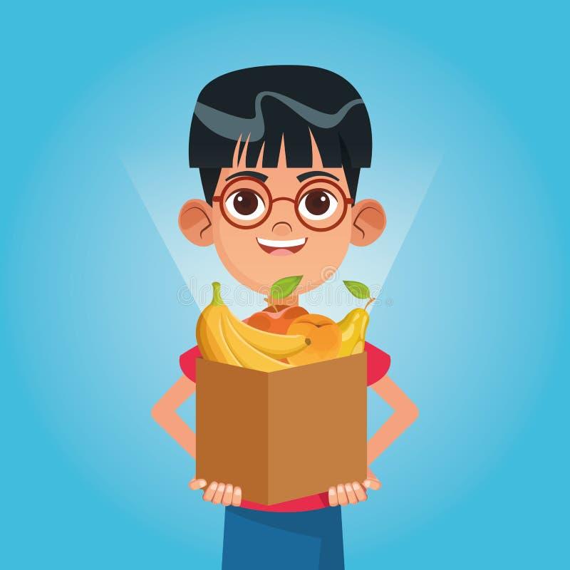 Bande dessinée de charité de donation d'enfant illustration stock