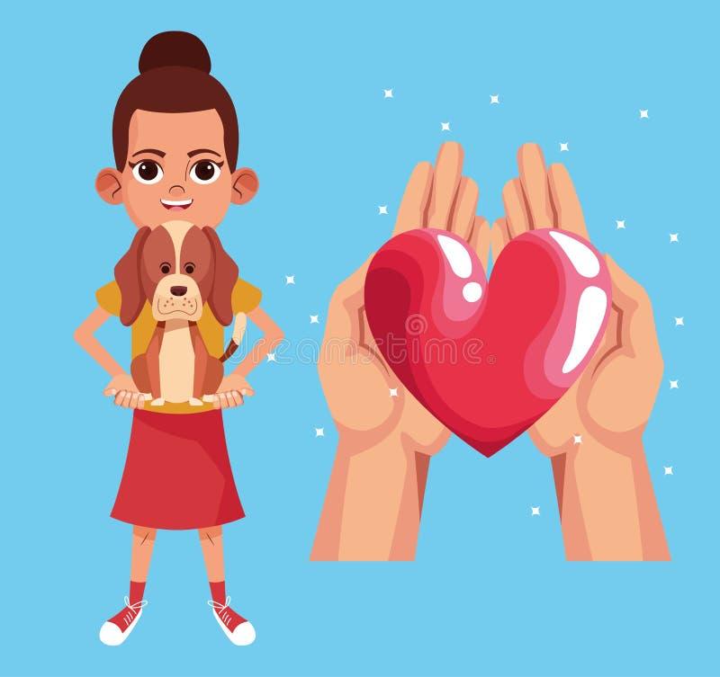 Bande dessinée de charité de donation d'enfant illustration de vecteur