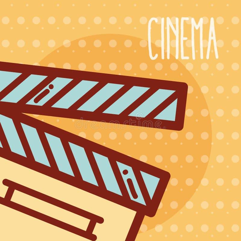 Bande dessinée de cinéma de bardeau illustration libre de droits