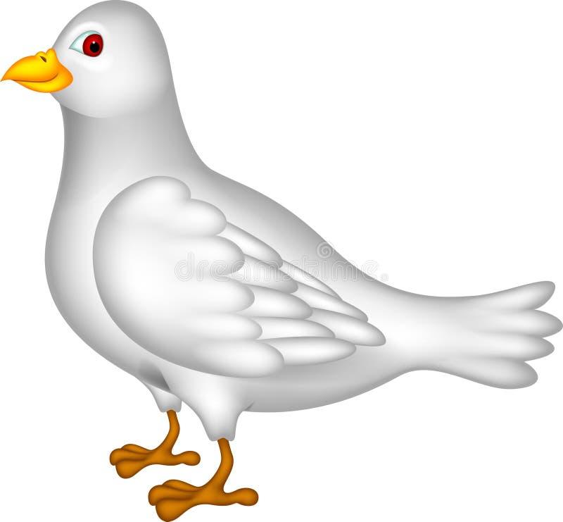 Bande dessinée de colombe de blanc illustration libre de droits
